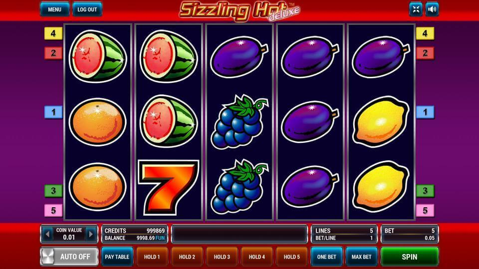 Sizzling Hot Deluxe Flash Game
